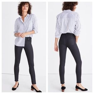 Madewell High Rise Skinny Coated Jeans Black